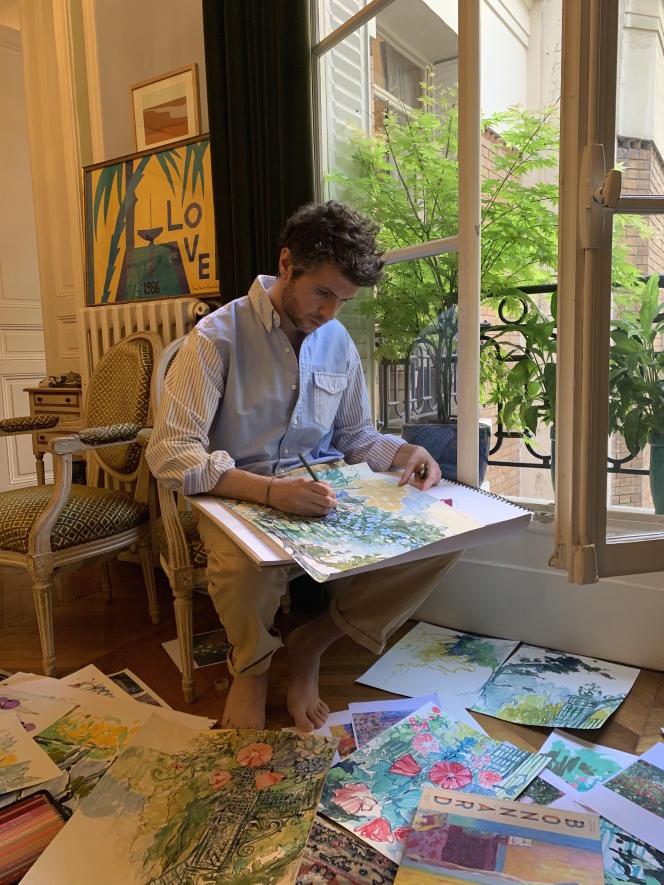 Alexandre Blanc travaille sur des motifs «jardin» pour l'été 2020.