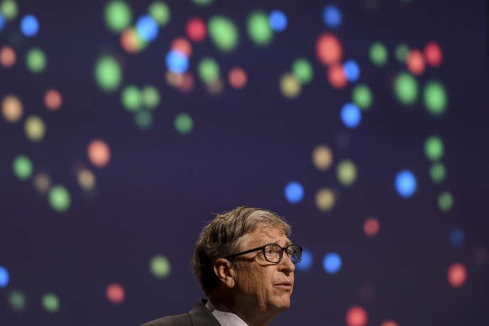 Bill Gates le 18 novembre 2019 à New Delhi lors de la huitième Conférence internationale sur les statistiques agricoles.