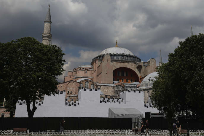 La basilique Sainte-Sophie, à Istanbul,le 29 mai.
