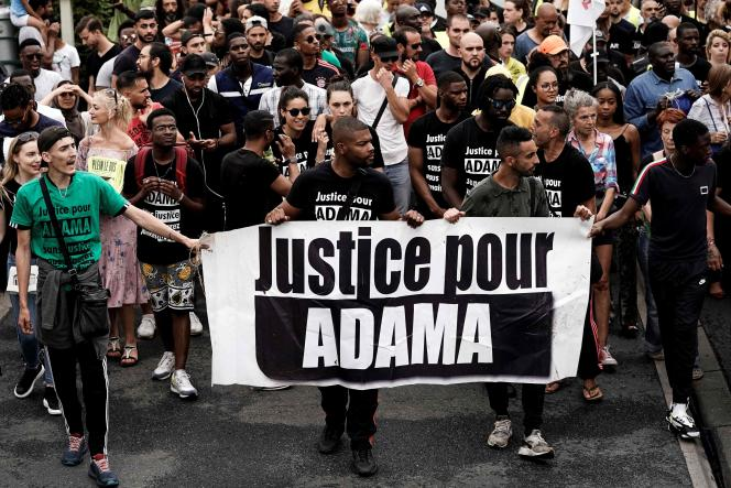 Une marche contre les violences policières demandant« justice pour Adama» le 20 juillet 2019.