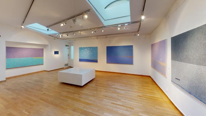 Vue de l'exposition de Vincent Bioulés,« Les douze mois de l'année».