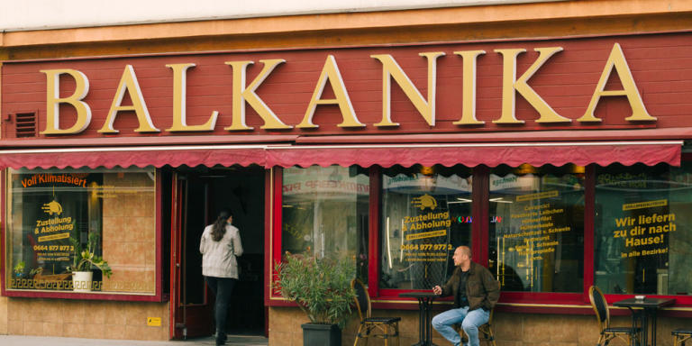 """Vienna May 16, 2020. Ottakringer Straße: A street in the 16. district – they also call it """"Balkan-Meile"""" (Balkan-Mile / Balkan-Street)"""