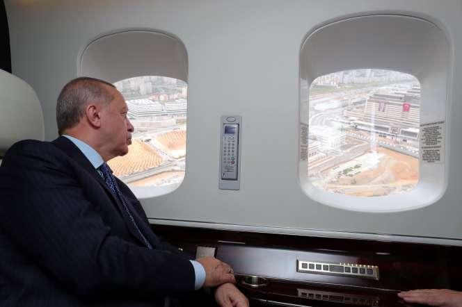 Le président Recep Tayyip Erdogan vient inaugurer un hôpital, le 21 mai àIstanbul.