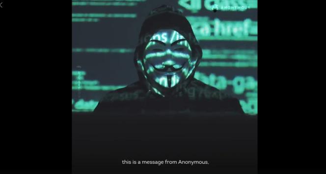 Capture d'écran Facebook - Anonymous