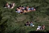 Dans le parc des Buttes-Chaumont, à Paris, le 31mai.