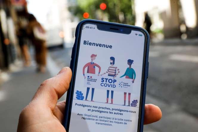 Un aperçu de StopCovid à partir des images diffusées par le gouvernement, le 26 mai.