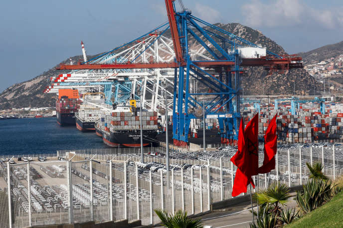 Au terminal 1 du port de Tanger Med, en juin2019.