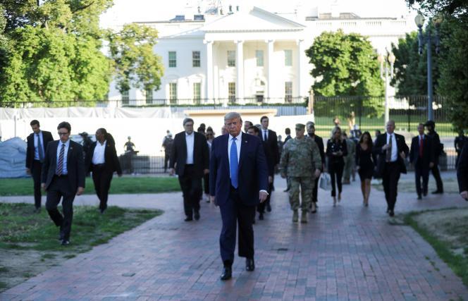 En sept minutes, Donald Trump a tracé le cap qu'il entend désormais suivre: celui de la répression d'un mouvement dont il n'a retenu que les pillages et les actes de vandalisme, assimilés à un «terrorisme intérieur».