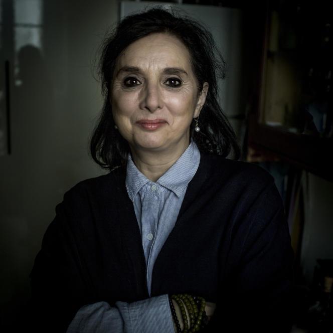 L'écrivaine québécoise Catherine Mavrikakis, à Paris, début mars 2020.