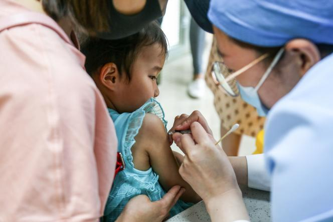 Vaccination en Chine, en juin 2020.