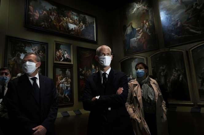 Le ministre de la culture, Franck Riester, en visite au Musée d'Orléans, le 15 mai.