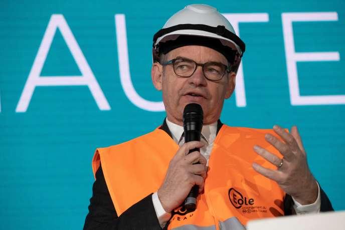 Patrick Jeantet, en mai 2019 (il dirigeait alors SNCF Réseau), à la Défense.