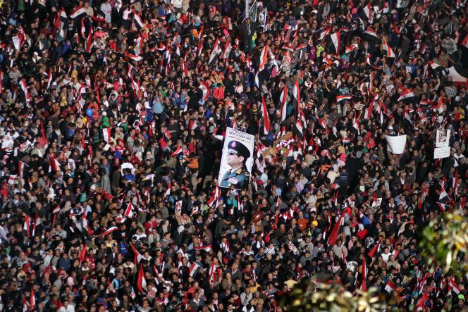 Manifestation de soutien au maréchal Al-Sissi, place Tahrir, au Caire, en janvier 2014.