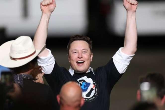 Elon Musk, à Cap Canaveral, samedi 30 mai.