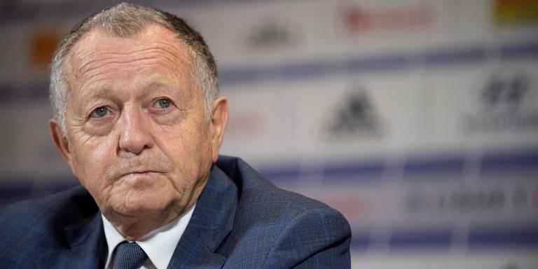 Olympique Lyonnais' President Jean-Michel Aulas attends a press conference to present the club's new head coach on October 15, 2019 in Decines-Charpieu, near Lyon. (Photo by ROMAIN LAFABREGUE / AFP)