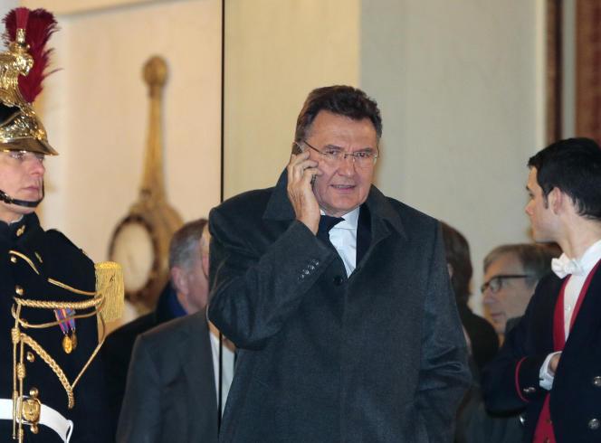 Le président de la Commission nationale de contrôle des techniques de renseignement (CNCTR)Francis Delon, à l'Elysée, à Paris, le 13 janvier 2016.