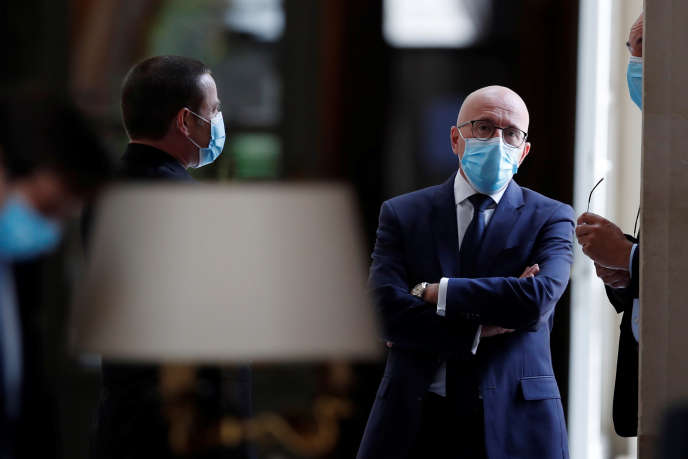 Eric Ciotti, futurrapporteur de la commission d'enquête sur la crise sanitaire, à l'Assemblée nationale à Paris, le 12 mai.