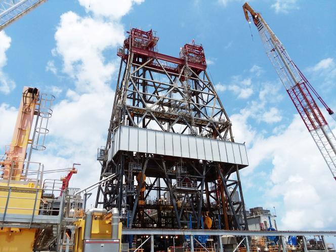 Des opérations de forage du groupe BP dans le golfe du Mexique, au large de la Louisiane, en 2017.