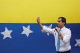 Le président de l'opposition vénézuélienneJuan Guaido, le 10 mars à Caracas.