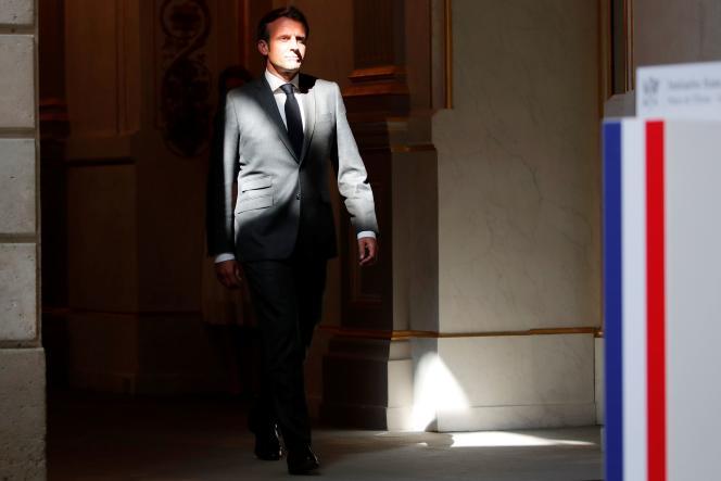 Emmanuel Macron, au palais de l'Elysée, le 18 mai.