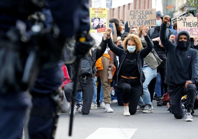 Manifestation en mémoire d'Adama Traoré, place de la République à Lille, le 4 juin.
