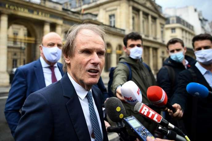 Bernard Joannin, le président du SC Amiens, à la sortie du Conseil d'Etat, le 4 juin.