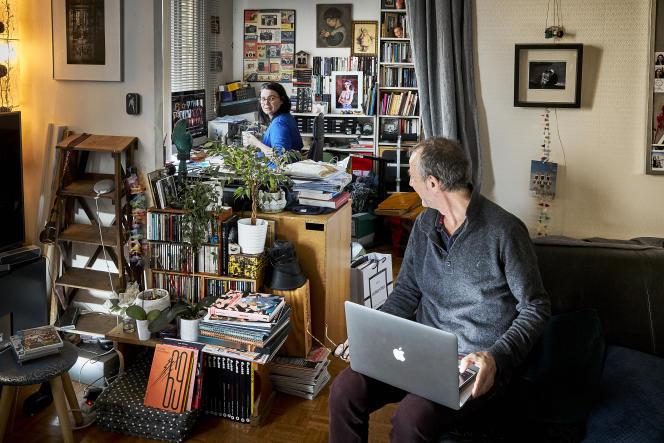 Télétravail et parité sous confinement. Bruno et sa femme, Marianne.