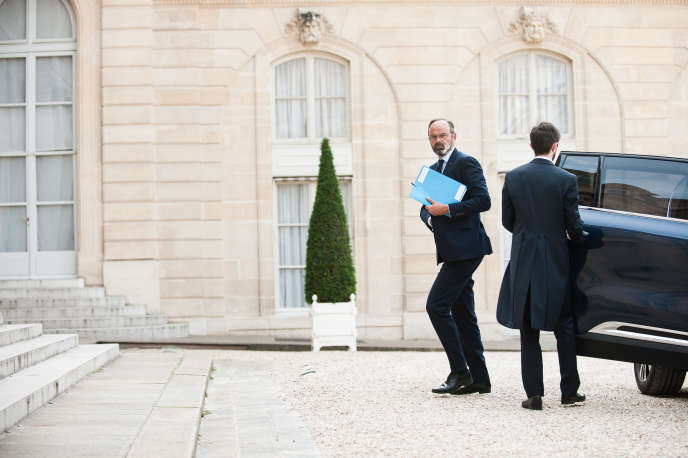 Prime Minister Edouard Philippe on June 3 at the Elysee Palace.