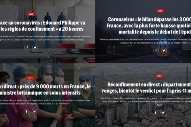 La rédaction du« Monde» a animé un« live» permanent pendant 83 jours.