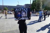 Manifestation à Bondy (Seine-Saint-Denis) le 1er juin pour dénoncer les violences policières et réclamer «justice pour Gabriel».