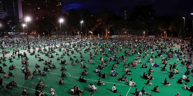 A Hongkong, des manifestants dans un parc malgré l'interdiction de la veillée de Tiananmen