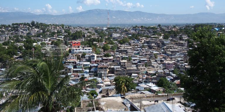 Port-au-Prince, capital city of Haiti.