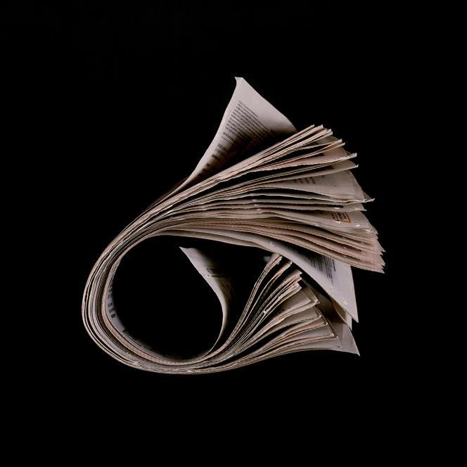 Extrait de la série «Transient 1, Newspapers» (2007/2009), «The Times», parMyne Soe-Pedersen.