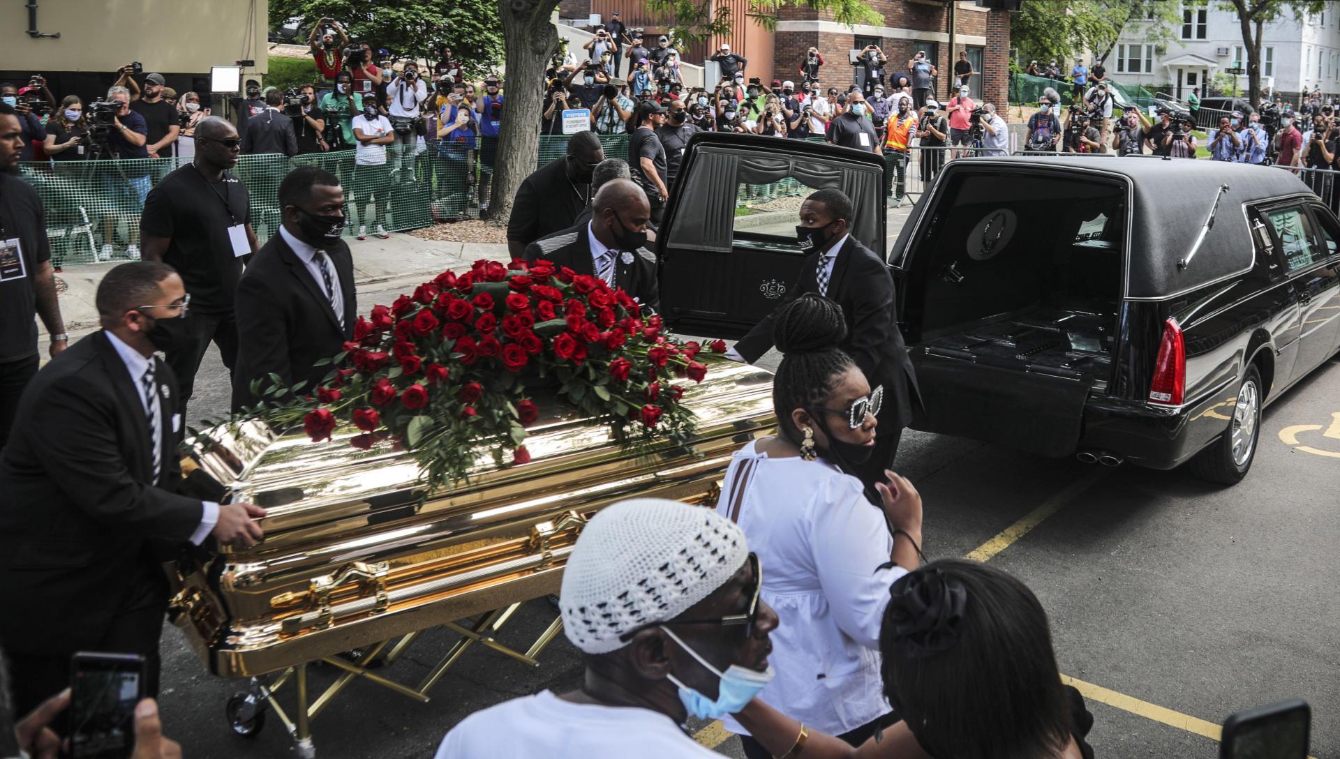 Le cercueil de George Floyd à Minneapolis, dans le Minnesota, le 4 juin.