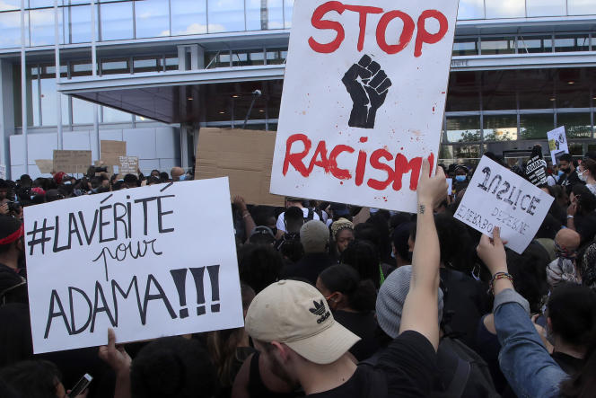 Dans la manifestation en hommage à Adama Traoré, à Paris, le 2 juin.