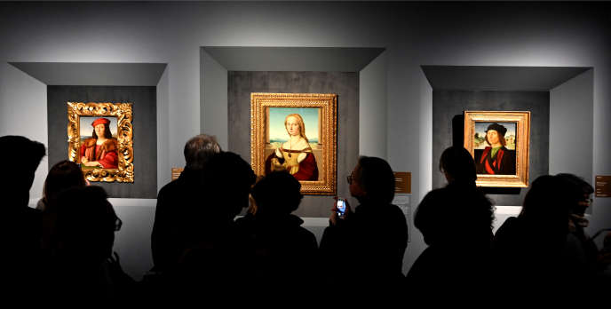 Dans l'une des salles de l'exposition « Raffaello, 1520-1483 », aux écuries du Quirinal, à Rome.