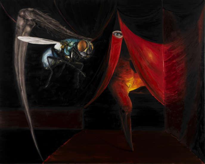 «La Mouche» (2020), de Stéphane Pencréac'h, huile sur toile.