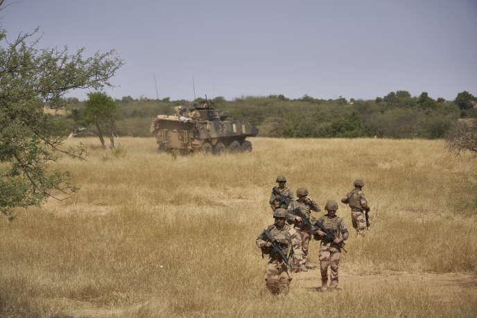 Des soldats de la force française «Barkhane» au Burkina Faso, en novembre 2019.