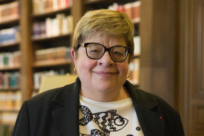 Dominique Costagliola, en 2018, à l'Académie des sciences.