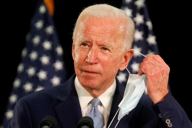 Le candidat démocrate à la présidence des Etats-Unis, Joe Biden, lors d'un meeting sur l'économie américaine à l'université d'Etat du Delaware, aux Etats-Unis, le 5 juin 2020.