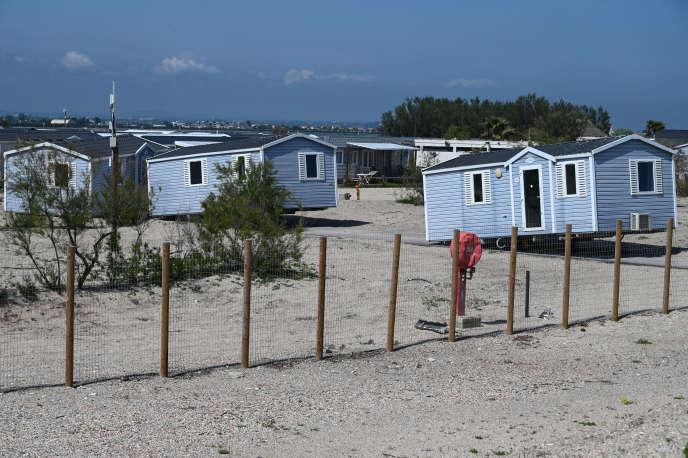 Un camping fermé à Palavas-les-Flots (Hérault), le 23 avril, au 38e jour du confinement décrété par les autorités pour enrayer la propagation du nouveau coronavirus.