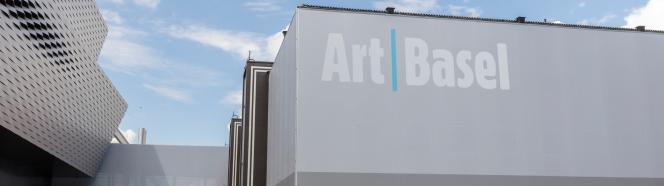 Sur le site d'Art Basel, à Bâle.
