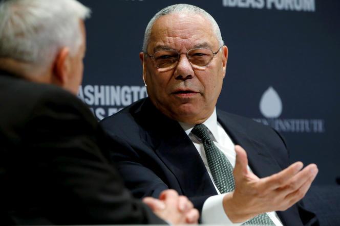 L'ancien secrétaire d'Etat américain Colin Powell, lors du Forum des idées de Washington, le 30 septembre 2015.