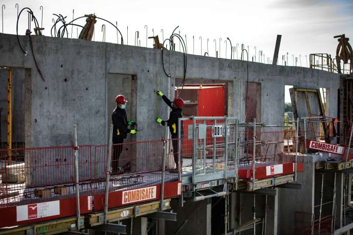 Un chantier à Montévrain (Seine-et-Marne), le 12 mai.