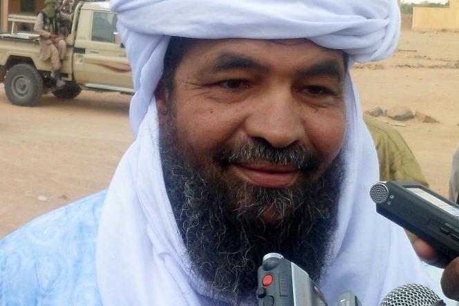 Le leader d'Ansar Eddine, Iyad Ag Ghali, en novembre2012 . AFP PHOTO / ROMARIC OLLO HIEN (Photo by Romaric Hien / AFP)