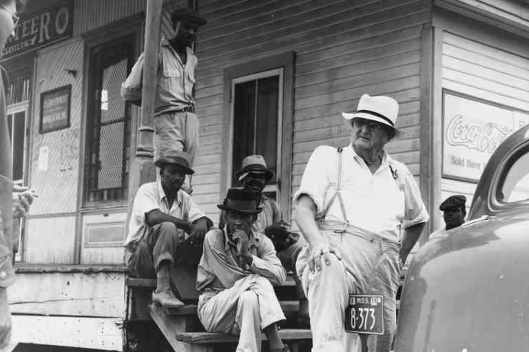 Dorothea Lange.Plantation Overseer and His Field Hands, Mississippi Delta. June 1936.