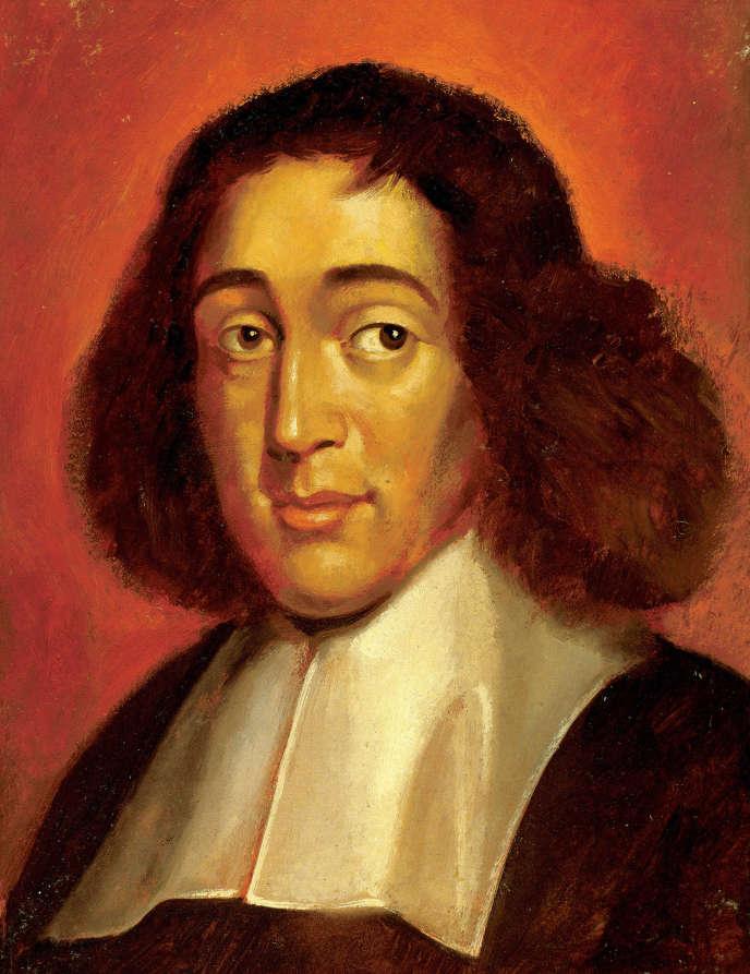 Le philosophe Spinoza. Peinture de Francisco Fonollosa, XXIe siècle.