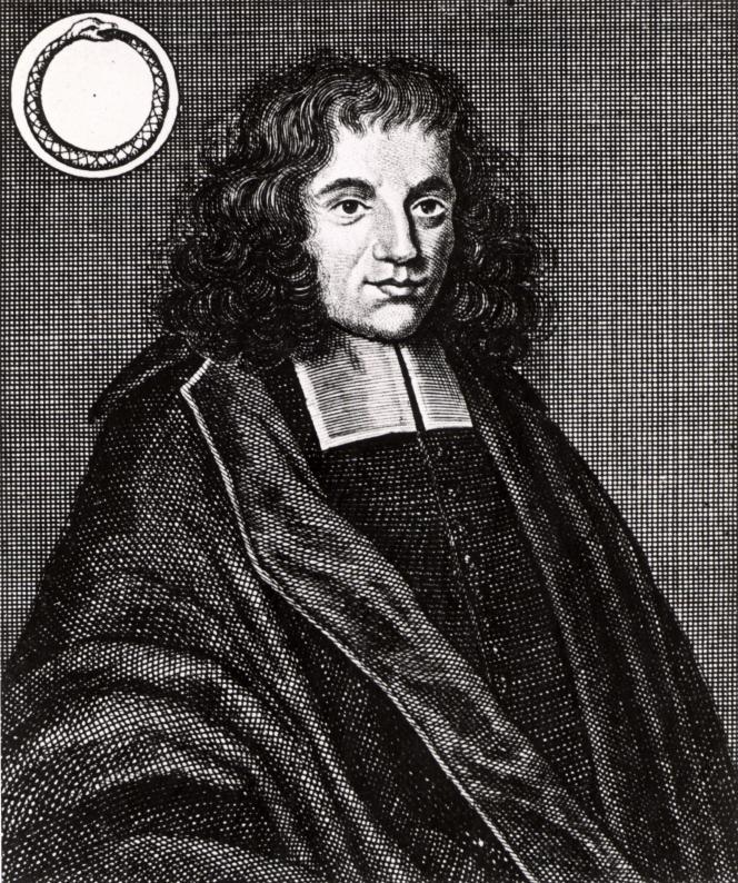 Le philosophe Spinoza. Extrait d'«Icones Virorum», de Friedrich Roth-Scholtz (1725).