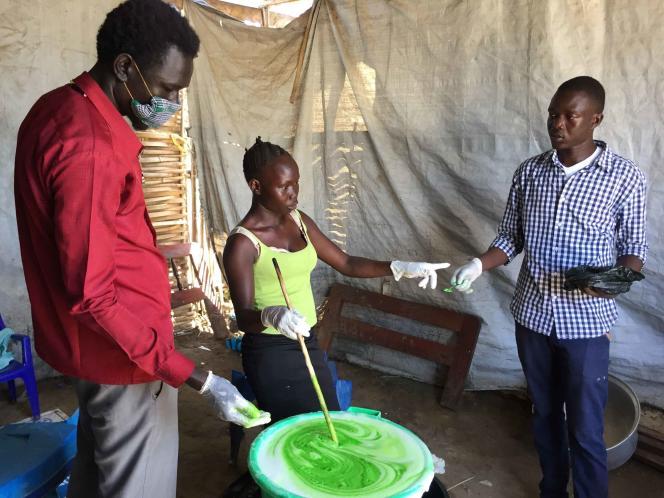 Fabrication de savon liquide à destination des hôpitaux universitaire et militaire de Juba.