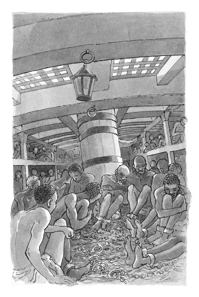 Une illustration de François Place extraite d'« Alma », de Timothée de Fombelle.